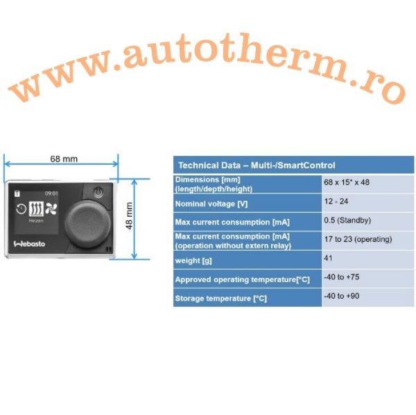 Comanda Interna Webasto Multicontrol Gama – Air Top2
